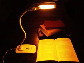 Warm Native Amber Reading Lamp